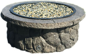 Concrete Fire Pit Seat Wall Form Liner Boulder Face Short 14 Tall X 57 Long