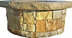 Concrete Fire Pit Seat Wall Form Liner Majestic Stack Stone 14 x5 Walttools