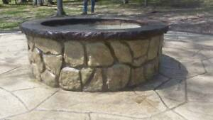 Concrete Fire Pit Seat Wall Form Liner Boulder Face Long 14 X Tall 75 Long