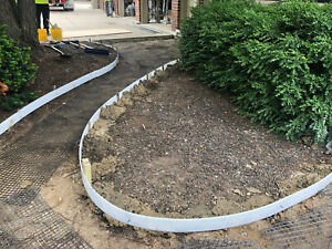 Plastic Flexible Forms For Concrete Flatwork curbs 4 In X 80 Ft Walttools