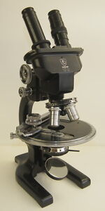 1947 Ao Spencer Research Microscope W Circular Revolving Mechanical Stage V