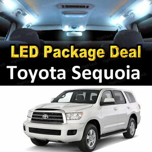 17x White Led Lights Interior Package Deal For 2001 2002 2003 Toyota Sequoia