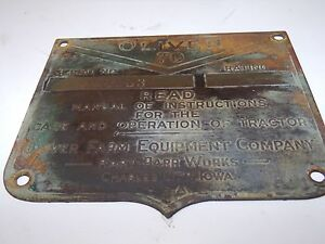 Oliver 70 Tractor Serial Plate