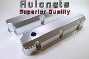 Sbf Fabricated Aluminum Valve Covers 289 302 351w 5 0l Small Block Ford Mustang