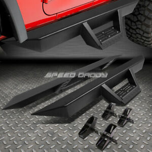 For 07 18 Jeep Wrangler 2 Door 3 Side Bar Nerf Running Boards Downpipe Step Pad