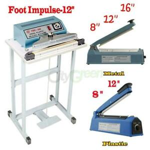 Hand Impulse Heat Sealing Sealer Foot Pedal Impulse Sealer Machine Poly Element