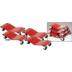Auto Dolly M998001 Car Dollies 8 X 16 In 6000 Lb Pk4