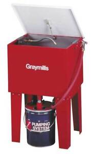 Graymills H42rn Parts Washer solvent 5 Gal length 24 In