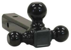 Buyers Products 1802202 Triple Hitch Ball Black Powder Coat