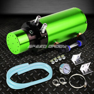 7 x2 5 billet Aluminum Engine Oil Catch Reservoir Breather Tank can gauge Green