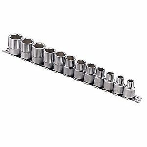 12 Pcs 3 8 Driver Six point Metric Hand Socket Set Gs 312m With Socket Holder