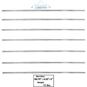 1954 55 56 57 58 59 Chevy Pickup Stainless Steel Long Bed Strip Kit 7 Pieces