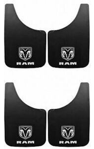4pc Dodge Ram White Logo 9x15 Mud Flaps Splash Guard Car Dakota Truck Suv New 4