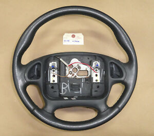 95 98 Firebird Trans Am Leather Wrapped Steering Wheel For Radio Controls 02560