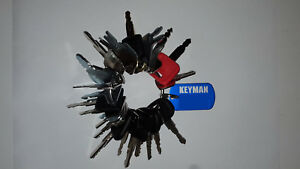 24 Keys Heavy Equipment Construction Ignition Key Set