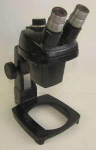 Bausch Lomb Stereo Zoom Microscope 0 7 3x W 15x Eyepieces On A Stand