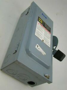 Square D 60a Safety Switch 240v Fused D322n