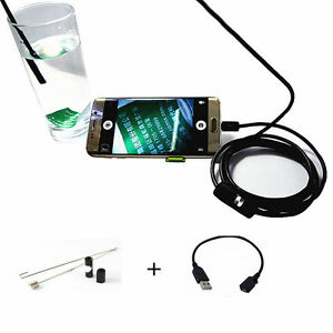 Water Oil Proof Endoscope Borescope Inspection Camera For Car Moto Diagnostic Us