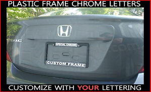 Special Chrome Plastic Make Your Own Custom Wording Words License Plate Frame