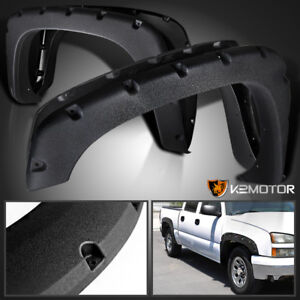 Rugged Textured 99 06 Chevy Silverado Sierra Pocket Style Bolt On Fender Flares