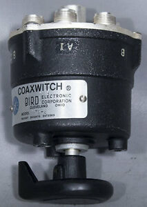Bird 72 2 Coaxwitch 50 ohm 10 Ghz 2 position Type n Rf Coaxial Selector Switch