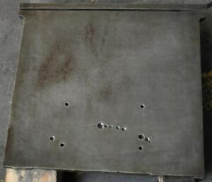 Cast Iron 22 1 2 X 22 3 4 Cored Plate With t slot