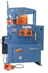 New Scotchman 5014et 50 Ton 7 station Hydraulic Ironworker Ironworkers