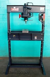 Dake 25h Hand Operated Hydraulic H frame Press New 25 Ton