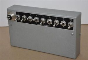 Capacitance Electric Testing Switch Box New In Box