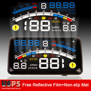 Car Hud Head Up Obd2 Ii Speedometer Display Projector Speeding Windshield