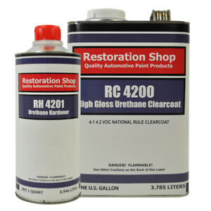 High Gloss Urethane Clearcoat Gallon Kit For Basecoat Auto Paint System