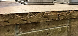 Chiseled Slate Concrete Countertop Edge Form