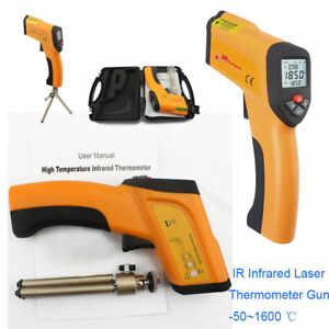 Non contact Infrared Ir Laser Thermometer Gun Lcd Temperature Meter 50 1600