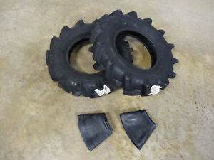 Two New 6 00 12 Duro Hf252 Tractor Tires Tubes Real 6 00 12 Bigger Than 6 12 s
