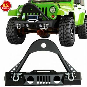 Wrecking Front Bumper W Oe Fog Light Hole Stubby stinger 07 17 Jeep Wrangler Jk