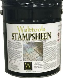 High Gloss Wet Look Decorative Concrete Sealer 5 Gallon Stampsheen