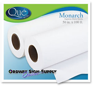 50 X 100 Ft Hp Printer Latex Poly Pro Sign Banner Display Paper Print Media