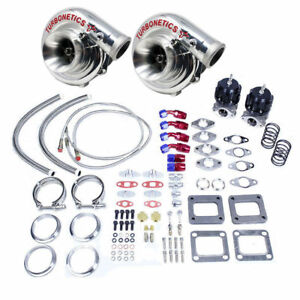 Turbonetics T4 Custom Twin Turbo Kit 1200hp Fit Corvette Ls1 Ls2 Ls6 Ls7 Lsx Ls9