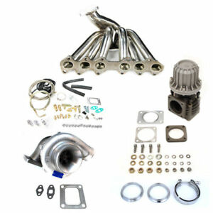 Fits Toyota Supra 93 98 2jz Gte T4 Top Mount Manifold Turbo Charger Set Up Kit