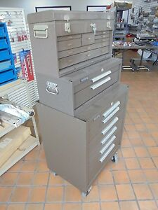 Kennedy Manufacturing Machinist s Chest Tool Box W Friction Slides 3 Tier