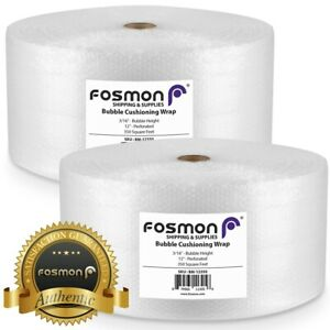 Fosmon Bubble Wrap 2 Roll X 12 X 350ft Total 700ft Perforated 12 Shipping