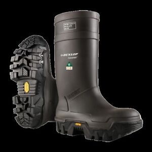 Dunlop E902033 Winter Protective Oil Gas Mining Steel Toe Boot New Sz 8