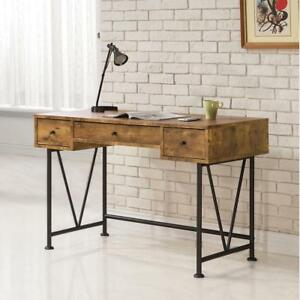 Coaster 801541 Barritt Rustic Home Office Writing Desk With 3 Drawers