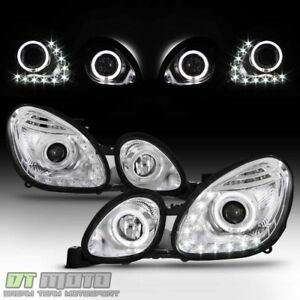For 1998 2005 Lexus Gs300 Gs400 Gs430 Led Halo Drl Projector Headlights Headlamp