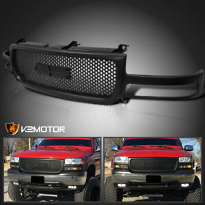 For 1999 2002 Gmc Sierra 2000 2006 Yukon Front Upper Black Round Grill Grille