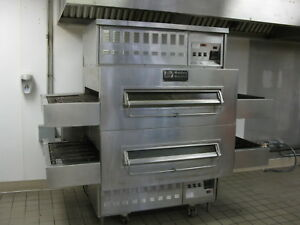 Middleby Marshall 32 Conveyor Belt Natural Gas Double Stack Pizza Oven