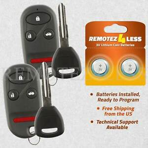 2 For 1998 1999 2000 2001 2002 Honda Accord Keyless Entry Remote Fob Car Key