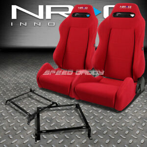 Nrg Type r Red Reclinable Racing Seats bracket For Civic Ej ek eh integra Db Dc