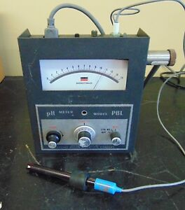 Sargent welch Scientific Ph Meter Model Pbl Good Cosmetic Condition H81
