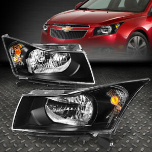 For 11 15 Chevy Cruze Black Housing Amber Corner Headlight Replacement Lamps